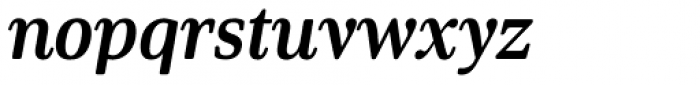 Solitas Serif Cond Bold Italic Font LOWERCASE