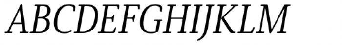 Solitas Serif Cond Book Italic Font UPPERCASE