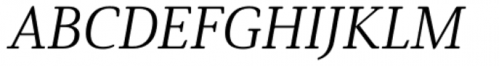 Solitas Serif Ext Book Italic Font UPPERCASE