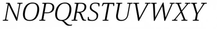 Solitas Serif Ext Light Italic Font UPPERCASE