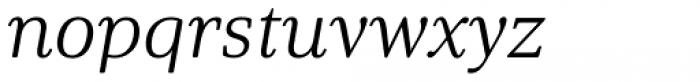 Solitas Serif Ext Light Italic Font LOWERCASE