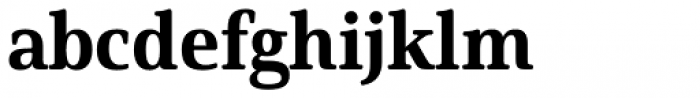 Solitas Serif Norm Ex Bold Font LOWERCASE