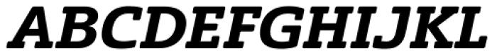Solitas Slab Ext Bold Italic Font UPPERCASE