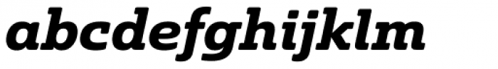 Solitas Slab Ext Bold Italic Font LOWERCASE