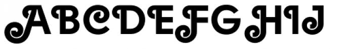 Solomon Black Deco Font UPPERCASE