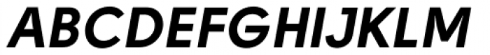 Solomon Sans Bold Italic Font UPPERCASE