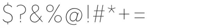 Solomon Sans Thin Font OTHER CHARS