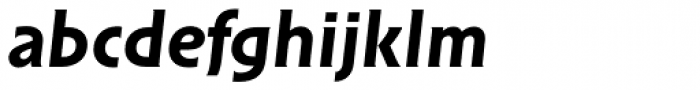 Solpera Bold Italic Font LOWERCASE