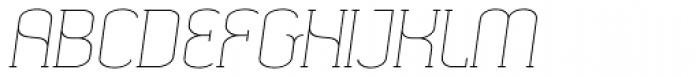 SomaSlab Light Slanted Font UPPERCASE