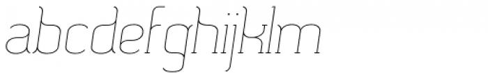 SomaSlab Light Slanted Font LOWERCASE