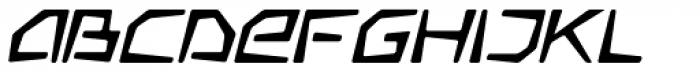 Somaton Oblique Font LOWERCASE