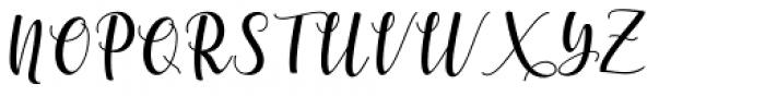 Someday Regular Font UPPERCASE