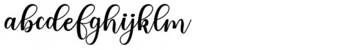 Someday Regular Font LOWERCASE