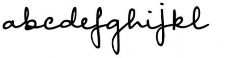 Something Exquisite Regular Font LOWERCASE