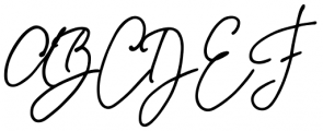 Something Exquisite Swash1 Font UPPERCASE