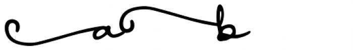 Something Exquisite Swash1 Font LOWERCASE