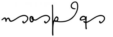 Something Exquisite Swash2 Font LOWERCASE
