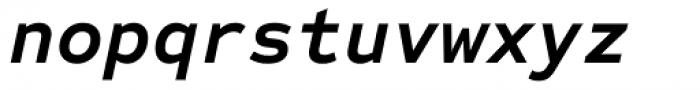 Sometype Mono Bold Italic Font LOWERCASE