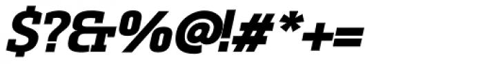 Sommet Slab Heavy Italic Font OTHER CHARS