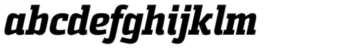 Sommet Slab Heavy Italic Font LOWERCASE