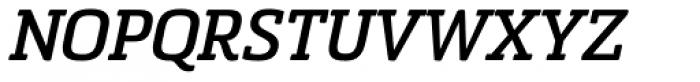 Sommet Slab Rounded Bold Italic Font UPPERCASE