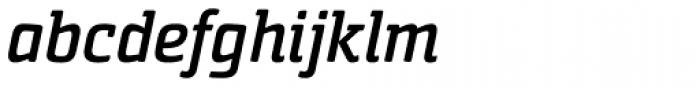 Sommet Slab Rounded Bold Italic Font LOWERCASE