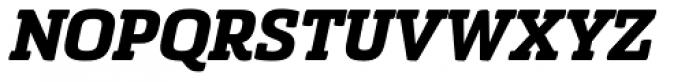 Sommet Slab Rounded Heavy Italic Font UPPERCASE