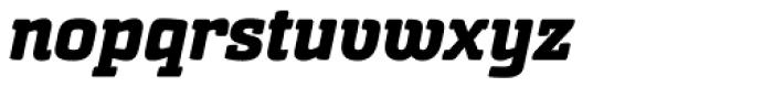 Sommet Slab Rounded Heavy Italic Font LOWERCASE