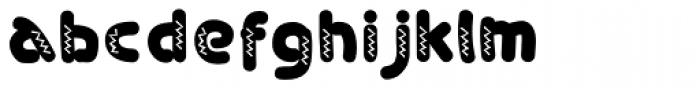Sondela Pizazz Font LOWERCASE