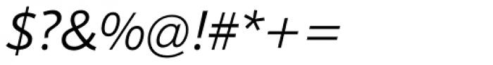 Sonus Light Italic Font OTHER CHARS
