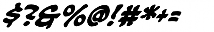 Soothsayer Bold Italic Font OTHER CHARS