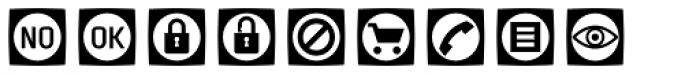 Sophist Icons OT Buttons A Font LOWERCASE