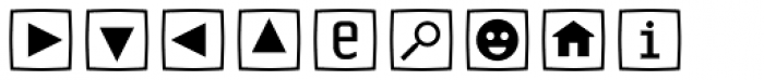 Sophist Icons OT Buttons B Font LOWERCASE