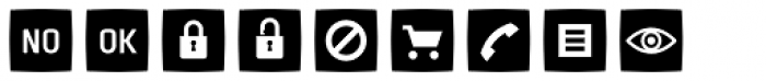 Sophist Icons OT Buttons C Font LOWERCASE