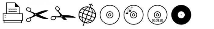 Sophist Icons OT Images Font UPPERCASE