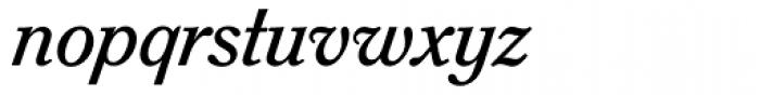 Sorbonne BQ Italic Font LOWERCASE