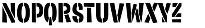 Sorvettero Stencil Font UPPERCASE
