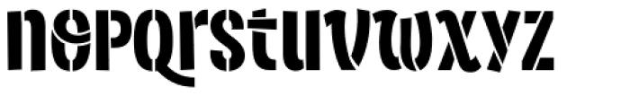 Sorvettero Stencil Font LOWERCASE