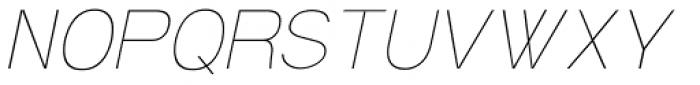 Soul ultralight Italic Font UPPERCASE