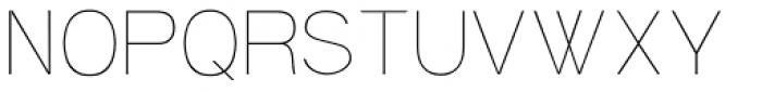 Soul ultralight Font UPPERCASE