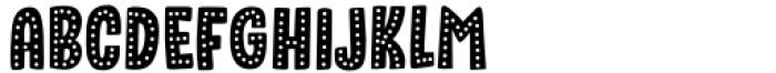 Sound Bubble Dots Regular Font UPPERCASE