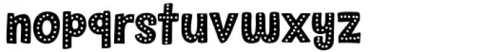 Sound Bubble Dots Regular Font LOWERCASE