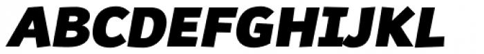 Souses Black Italic Font UPPERCASE