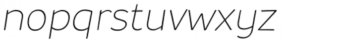 Souses Thin Italic Font LOWERCASE
