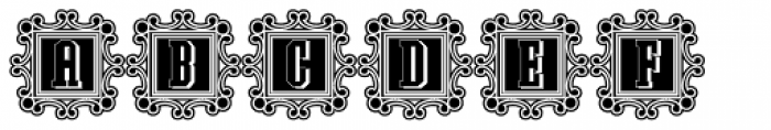 Southern Colonialist Decorative Lined Font UPPERCASE