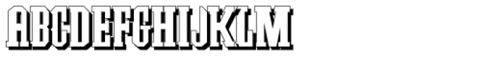 Southern Colonialist Shadow Font UPPERCASE