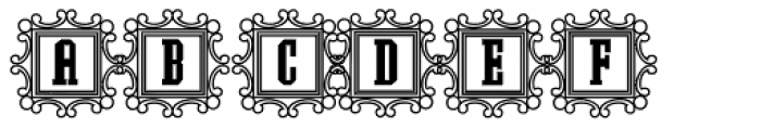 Southrn Colonialist Decorative Outline2 Font UPPERCASE