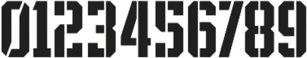 SPORTS HEADLINE BOOK STENCIL ttf (400) Font OTHER CHARS