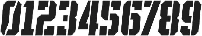SPORTS HEADLINE STENCIL ttf (400) Font OTHER CHARS