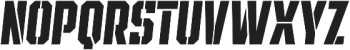 SPORTS HEADLINE STENCIL ttf (400) Font LOWERCASE
